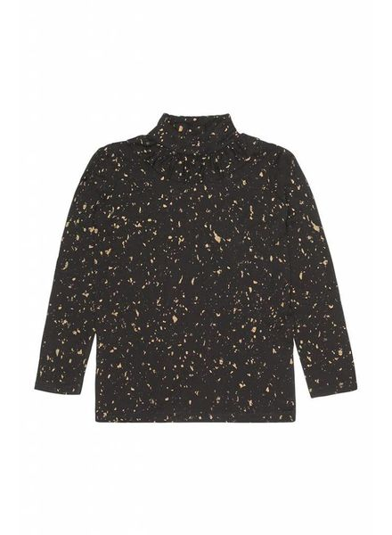 Soft Gallery Fayenne Top jet black  Flakes Gold