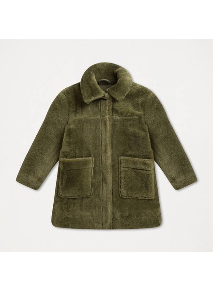 repose Faux fur  jas dusty green