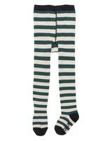 CarlijnQ Tights green off white stripe