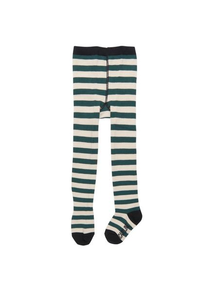 CarlijnQ Tights green off white stripe