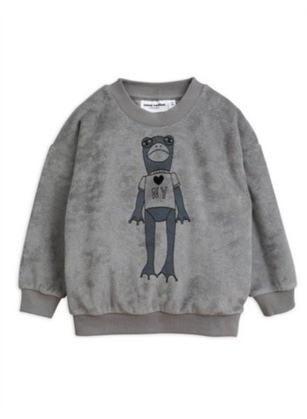 Mini rodini Frog sp terry sweatshirt grey