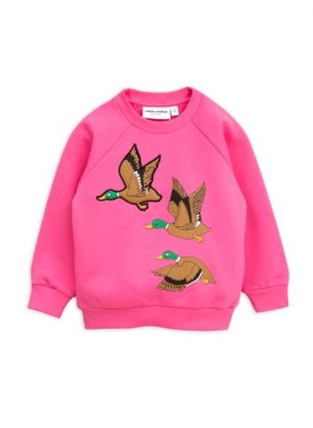 Mini rodini Duck sp sweatshirt cerise