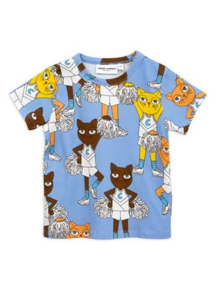 Mini rodini Cheercats ss tee blue
