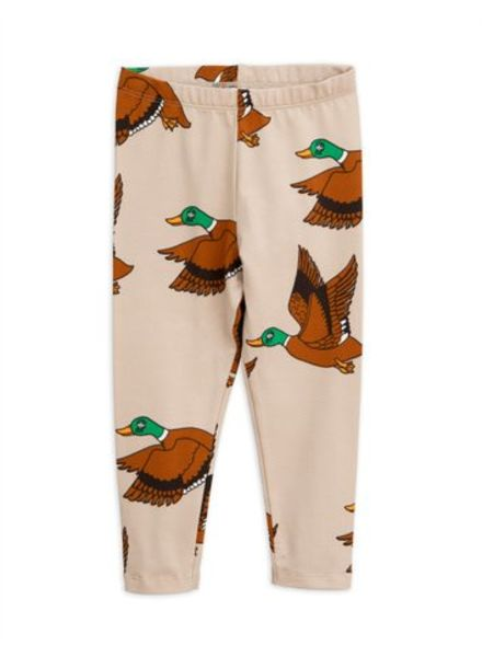 Mini rodini Ducks aop leggings  beige