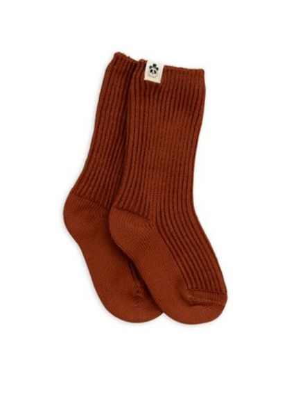 Mini rodini Wool sock brown