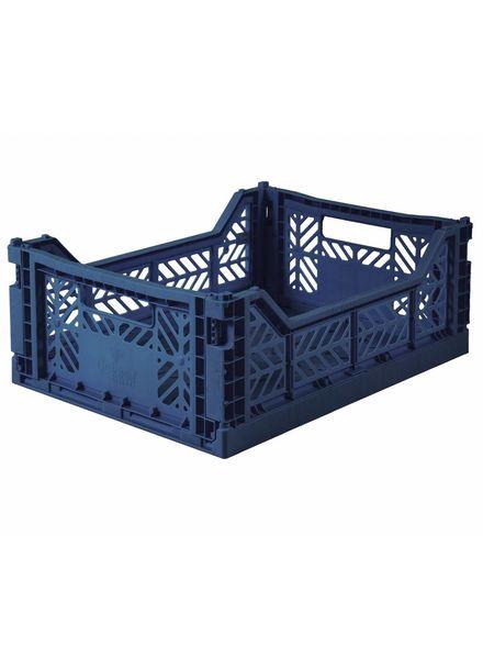 eef lillemor Folding Crate Midi navy PRE ORDER