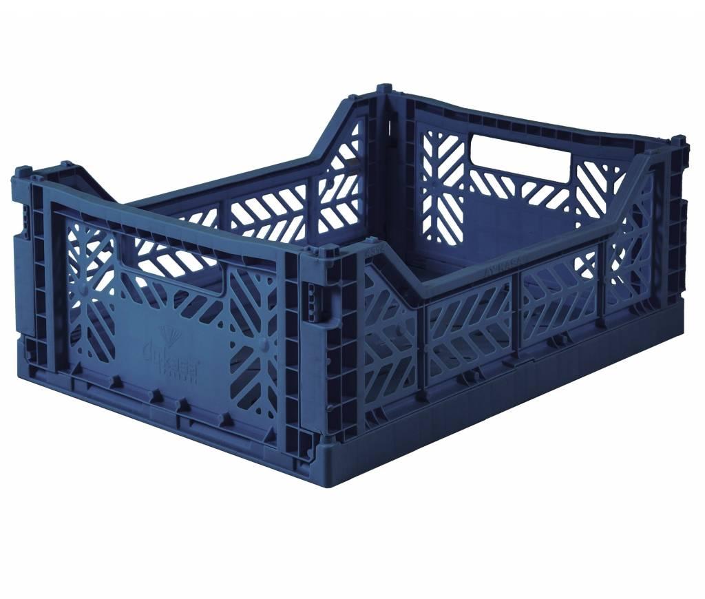 eef lillemor Folding Crate Midi navy