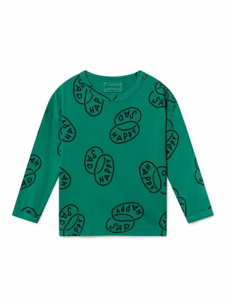 Bobo choses Happy sad round neck shirt