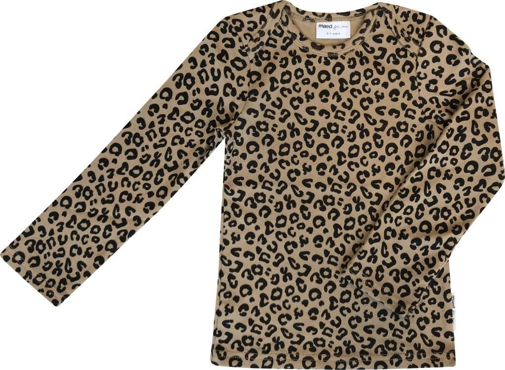 Maed for mini Brown Leopard AOP LS Shirt