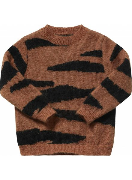 Maed for mini Brown Tiger Knit Sweater