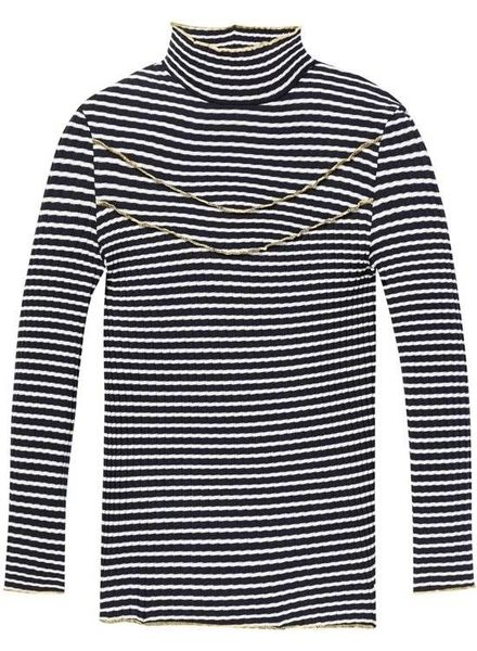 Scotch & Soda Longsleeve rib met collar