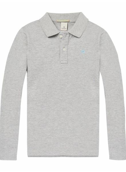 Scotch & Soda Longsleeve Polo Grey