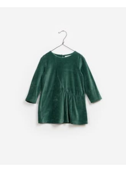 Play Up Velvet Dress Green Tea