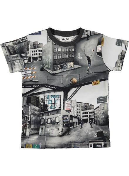 Molo Ragnij City Text Short Sleeve Tshirt