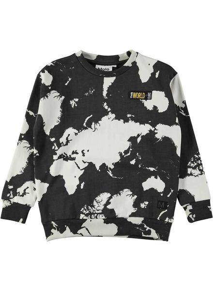 Molo Madsim Sweater World Map Dark