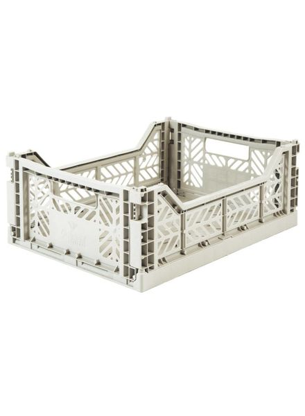 eef lillemor Folding Crate Midi light grey