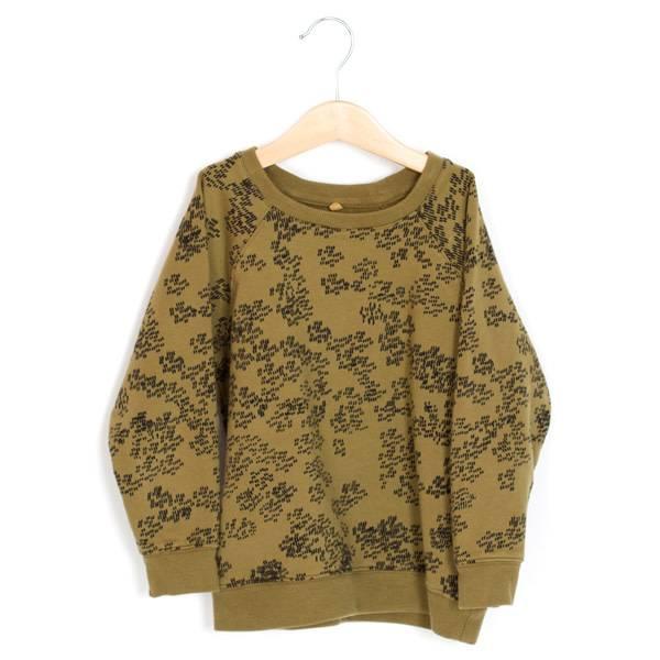 Lötie kids Rain print khaki sweater
