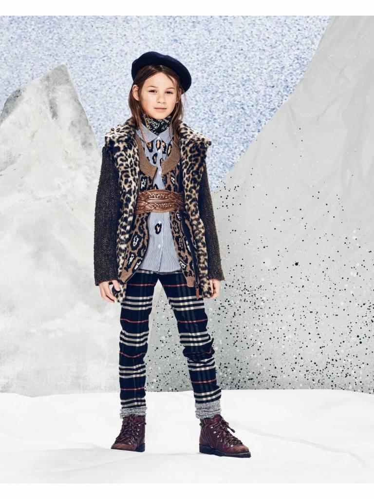 Scotch & Soda Faux fur jas met luipaardprint