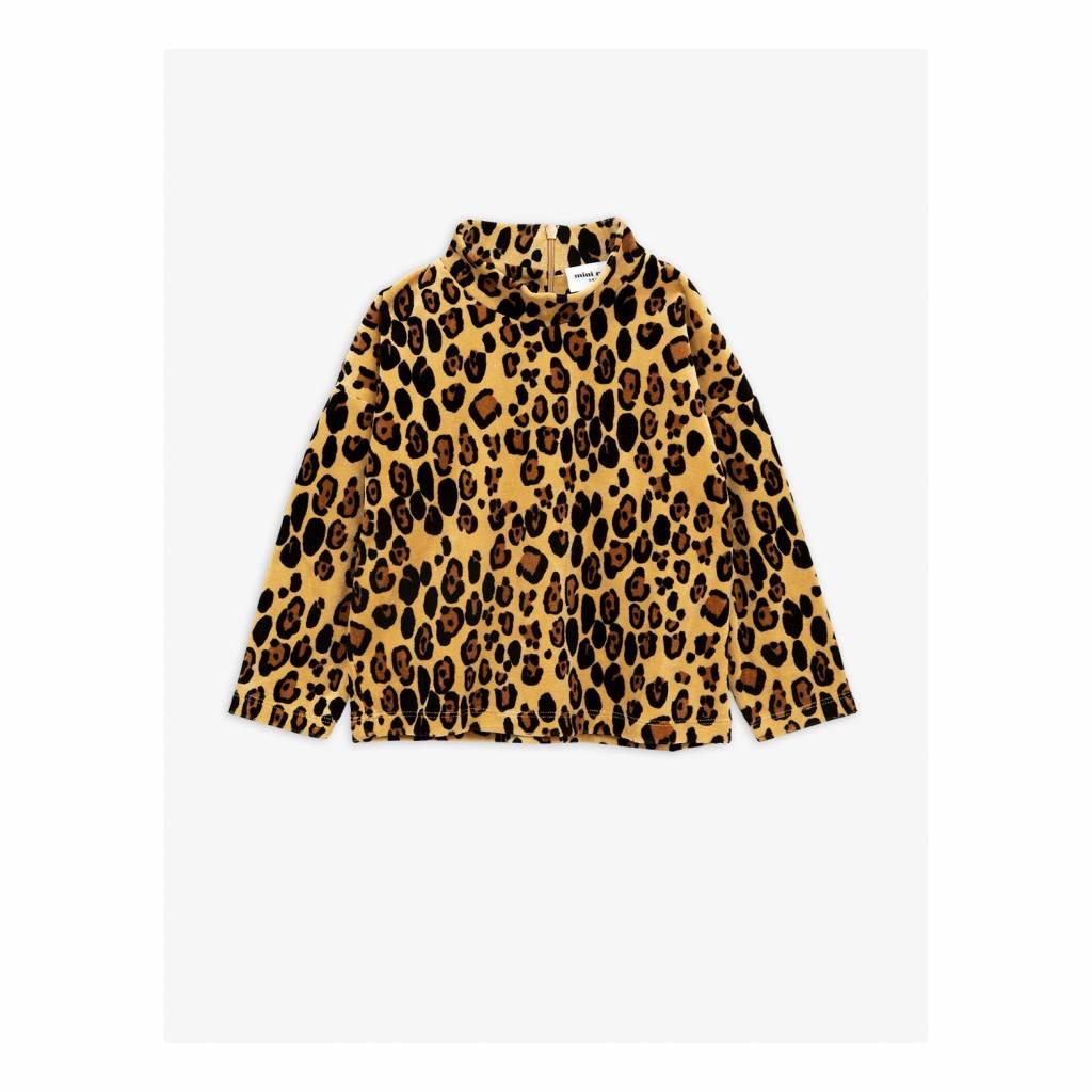 Mini rodini velour longsleeve leopard
