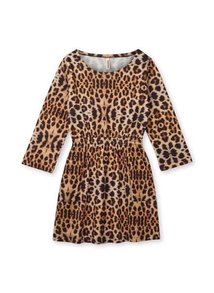 Popupshop Butterfly dress leopard