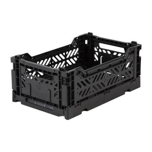 Folding Crate Mini black