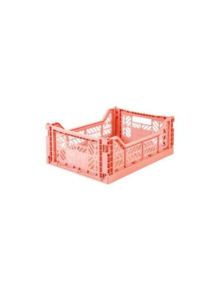 eef lillemor Folding Crate Midi salmon pink