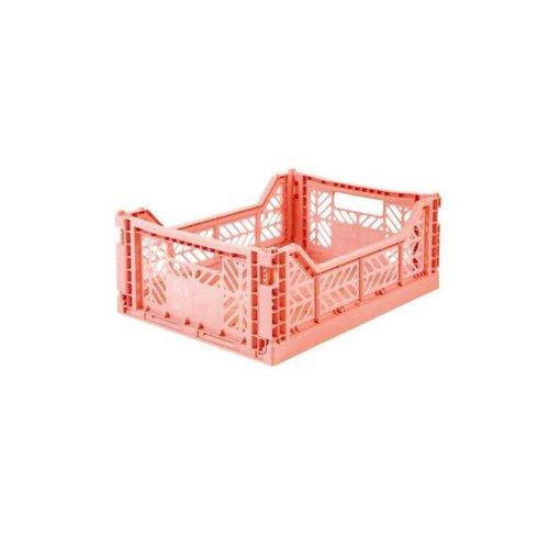 Folding Crate Midi salmon pink