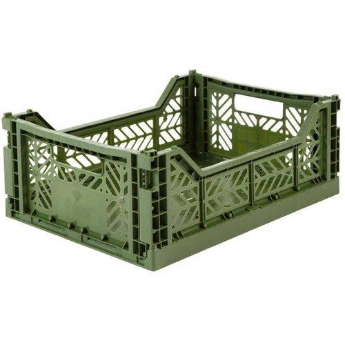 Folding Crate Midi khaki