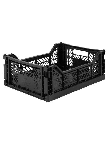 eef lillemor Folding Crate Midi black