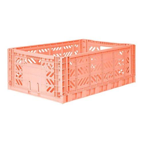 Folding Crate Maxi salmon pink