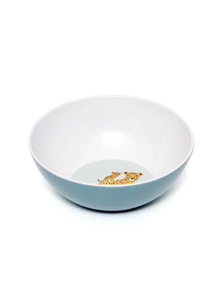 Petit Monkey Melamime bowl leopard denim