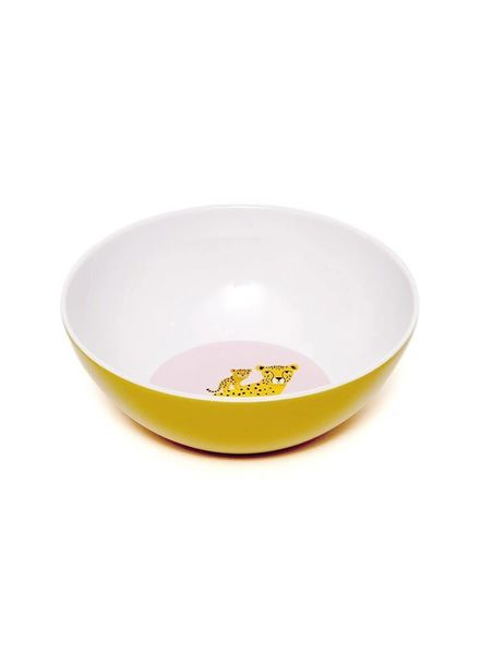 Petit Monkey Melamime bowl leopard ochre