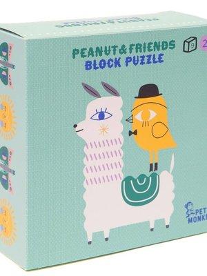 Pinda & vrienden blokpuzzel 9 stuks