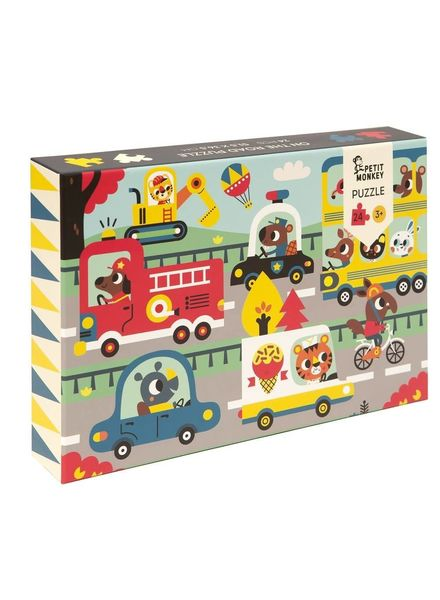 Petit Monkey On the road puzzle 24 pcs
