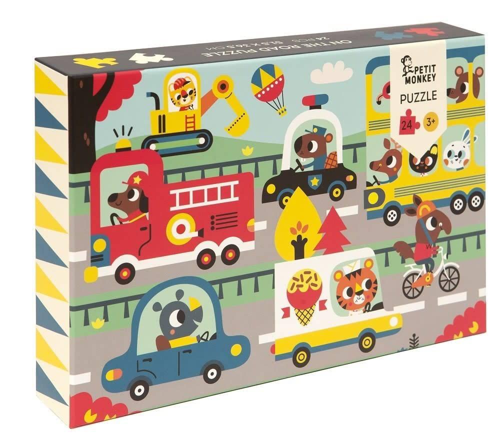 Petit Monkey On the road puzzle 24 pcs