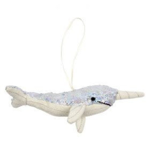Merimeri Sequin narwhal tree decoration