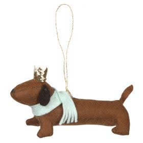 Merimeri Felt sausage dog ornament