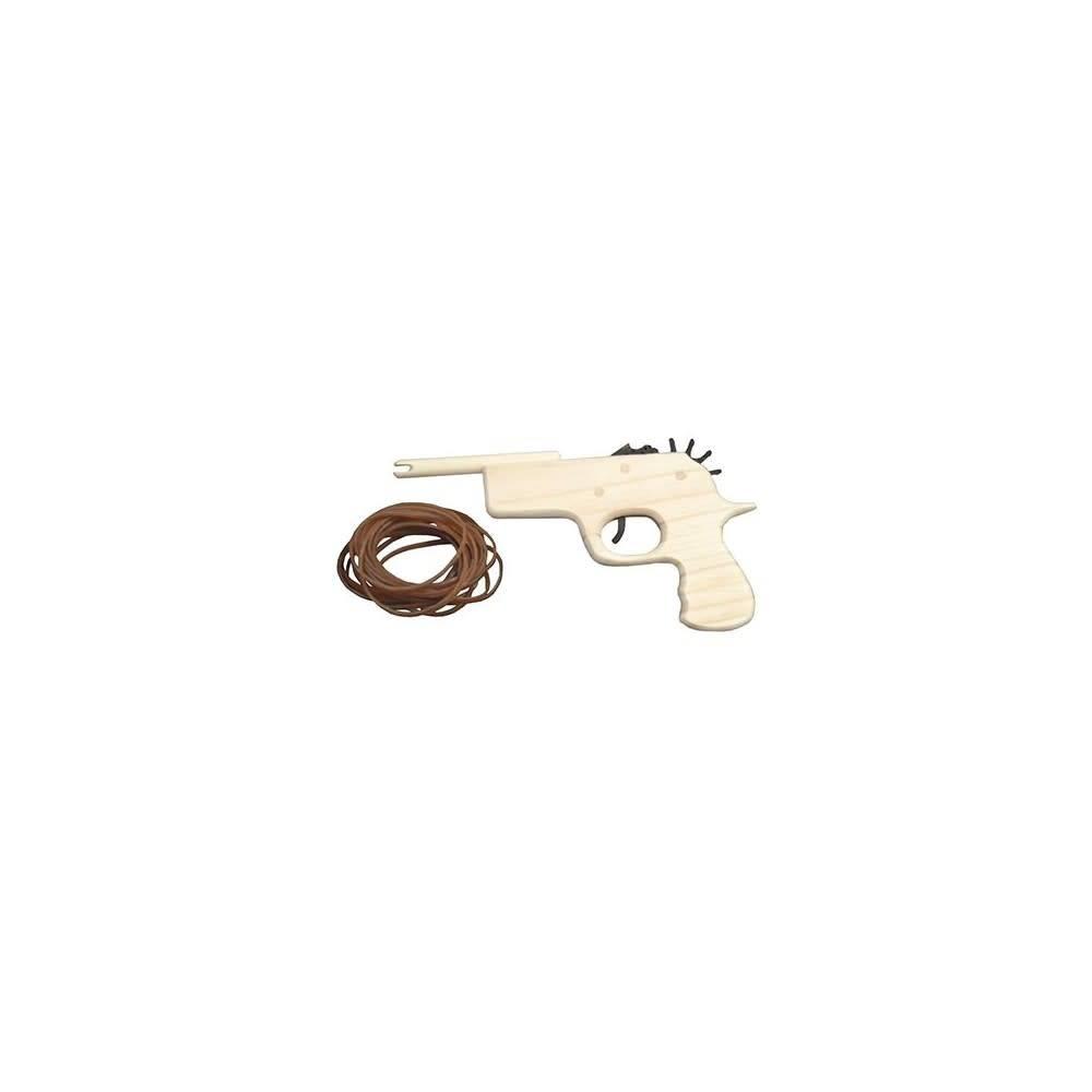 vilac Houten pistooltje met elastiekjes