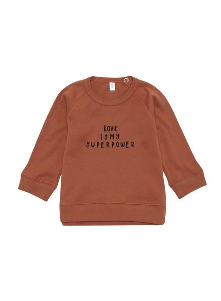 Organic Zoo Rust sweatshirt LOVE