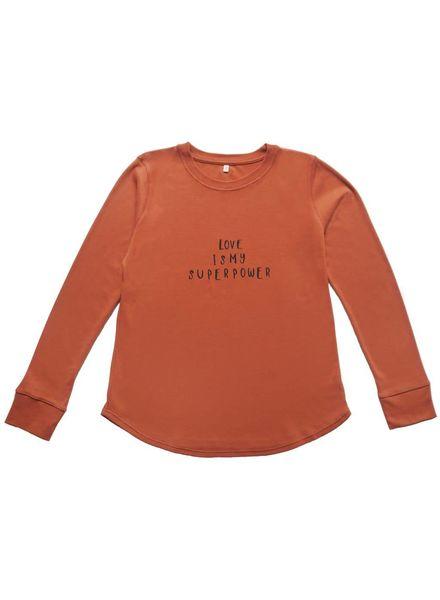 Organic Zoo Rust sweatshirt LOVE MAMA