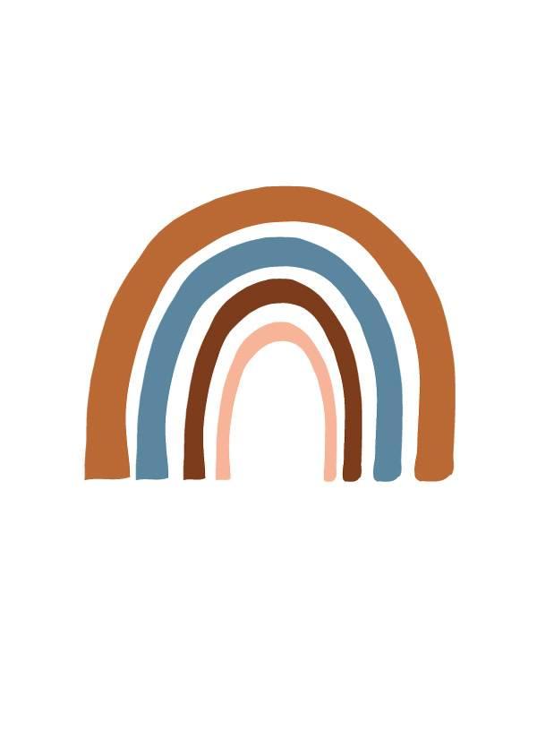 NYNstyles Rainbow poster blauw