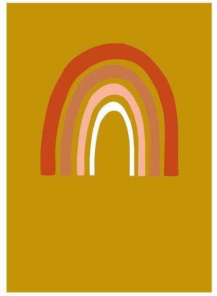 NYNstyles Rainbow poster okergoud rust