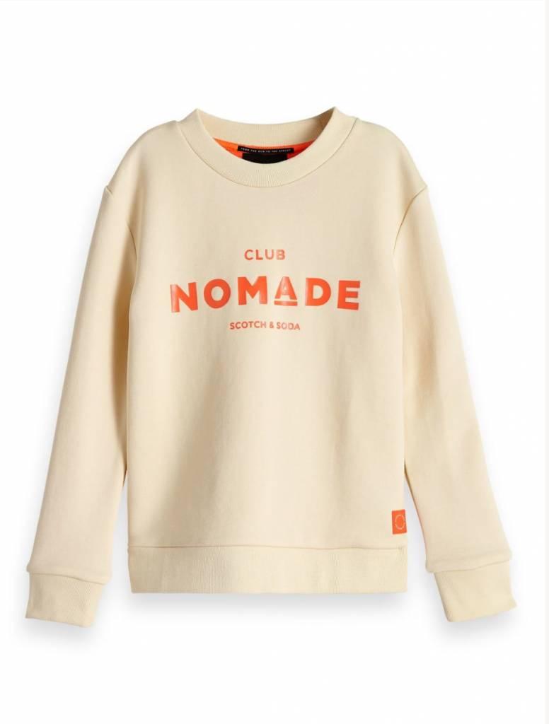 Scotch & Soda Club nomade crew neck sweatshirt 148531