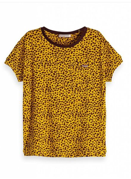 Scotch & Soda 147684 boxy fit T-shirt all over print