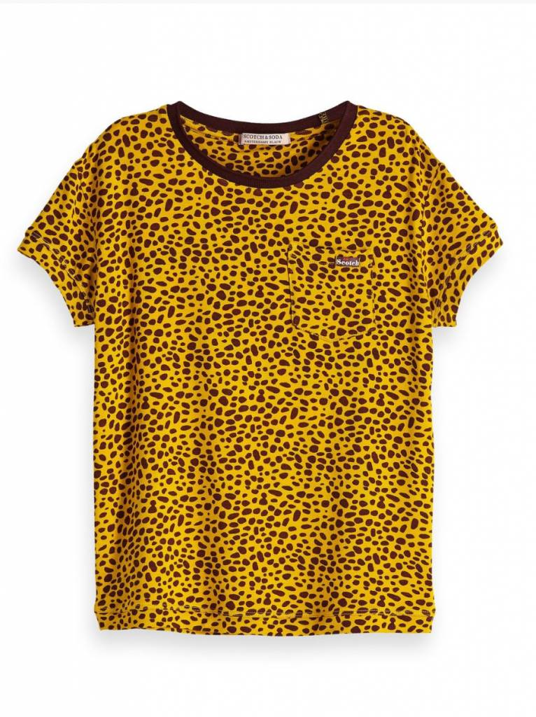 Scotch & Soda 147684 boxy fit T-shirt all over print