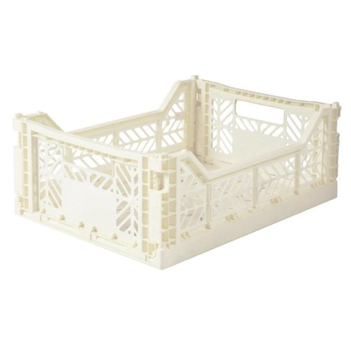 Folding Crate Midi coconut milk