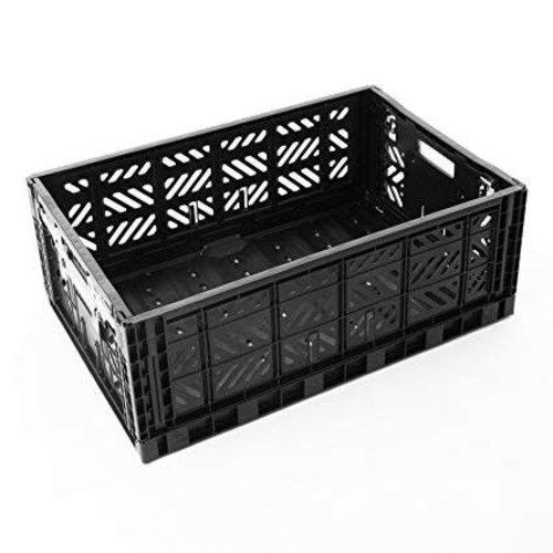 Folding Crate Maxi black