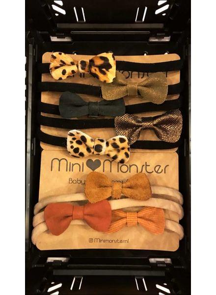 Mini Monster Haarband met strik