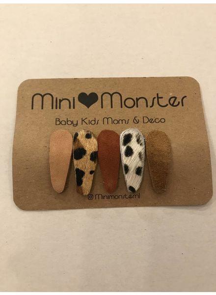 Mini Monster Haarclips clic-clac 5 stuks assorti