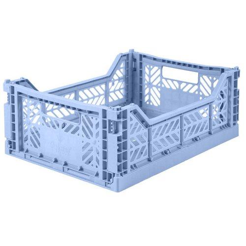 Folding Crate Midi baby blue